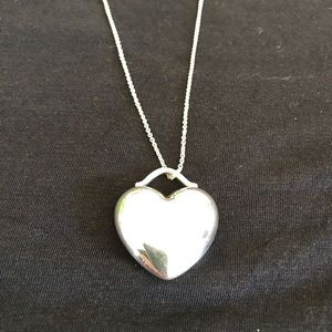 Tiffany & Co silver heart necklace